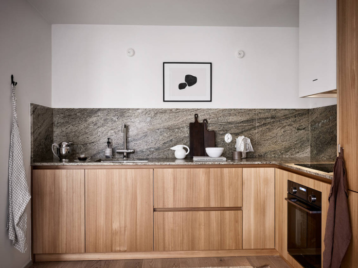 minimal kitchen in neutral colours
