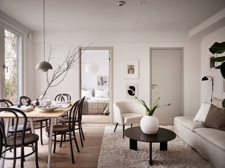 Minimal Nordic Apartment Shows Us How To Decorated For Winter