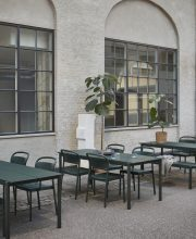 Modern Outdoor Furniture - Muuto Linear Steel Collection Dark Green